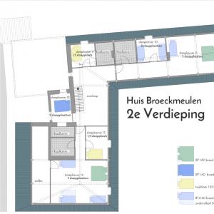 Huis Broeckmeulen Plattegrond 2e Verdieping